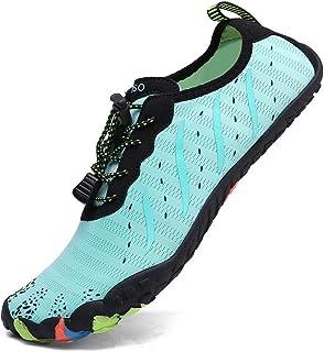 XIDISO Homme Chaussures Aquatiques Femme Chaussons de Plage de d'eau Séchage Rapide Bain Soulier Yoga