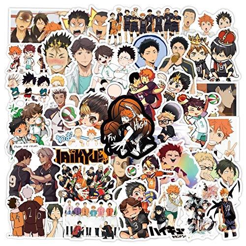 YZFCL Pegatinas de Anime japonés, Pegatina de Voleibol para Guitarra, Maleta, portátil, teléfono, Nevera, Motocicleta, Coche, 100 Uds.