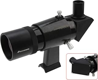 Astromania 9x50 Angled Finder Scope, Black - You Will no Longer Need to Strain Your Neck at Difficult Angles and are Also able to Search for Objects which are not so Easy to find