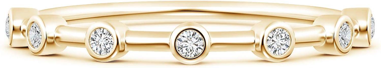 April Birthstone-Bezel Set Lab Created Sale SALE% OFF Eternity Half Diamond Wom Tampa Mall