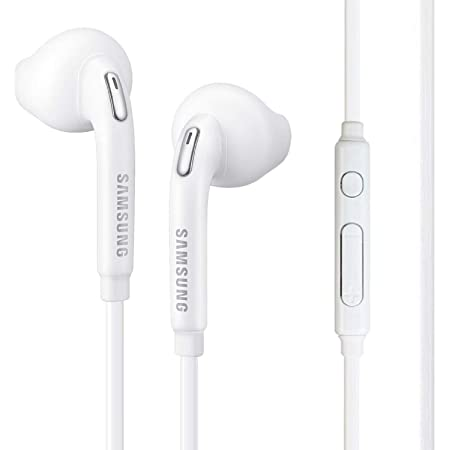 VectorTech (2 Pack) OEM Wired 3.5mm White Headset with Microphone, Volume Control and Call Answer End Button [EO-EG920BW] for Samsung Galaxy S6 Edge+ / S6 / S5, Galaxy Note 5/4 / Edge (Bulk Packaging)