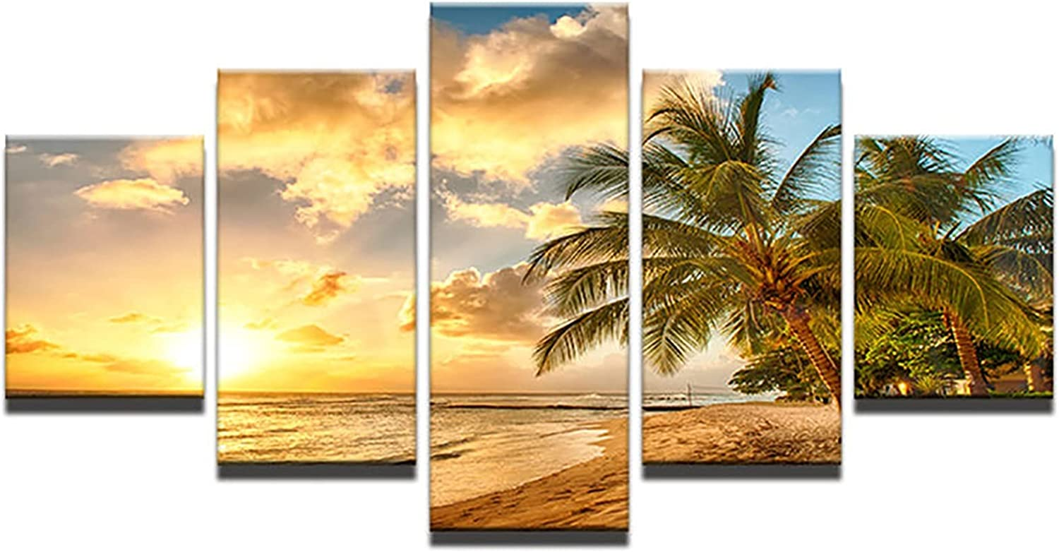 HETHYAN Wall Art Pictures Direct store Home Decoration 5 T Panel Palm Posters Max 70% OFF