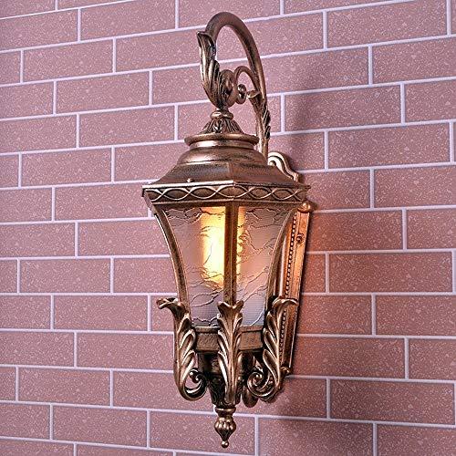 Meidn Nordic Externe Antique Aluminium Rost- Wandleuchte Mittelalter Victoria Victorian E27 Wand-Laterne im Freien IP65 wasserdichte Wandleuchte-Befestigungs-Lampe for die Gemeinschafts Patio Wand bef