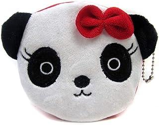 Kawaii Cartoon Panda Porte-monnaie Childen peluche sac argent Mini sac /à main cl/é Femme Zipper Petit WalletChange bourse cadeau