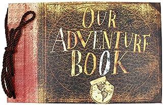 "T-HAOHUA Anniversary Photo Album Scrapbook - Our Adventure Book Wedding Photo Album Scrapping 11.6""x7.5"" inches, 80 Pages ..."