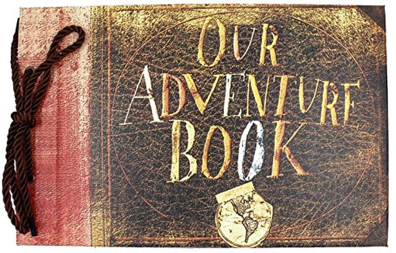 T-HAOHUA Anniversary Photo Album Scrapbook - Our Adventure Book Wedding Photo Album Scrapping 11.6
