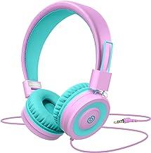Kids Headphones,Besom i66 Headphones for Girls- Wired Headphones for Kids, Adjustable Foldable Tangle-Free Cord 3.5mm Jack...
