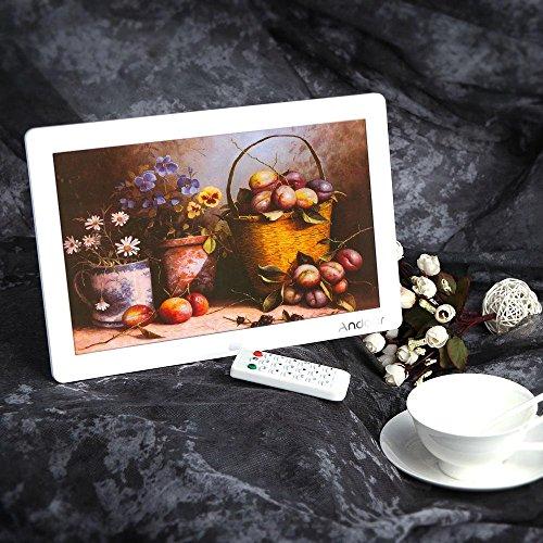 Andoer - Cornice foto digitale 12pollici HD, TFT LCD, 1280x 800, funzione sveglia, MP3MP4video player, con Remote Desktop
