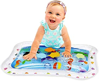 NanaHugs Inflatable Baby Water Play Mat, Premium Tummy Time for Infants and Toddlers, PBA-Free Leak Proof Perfect Fun Activity Play Center to Stimulate Your Baby's Growth