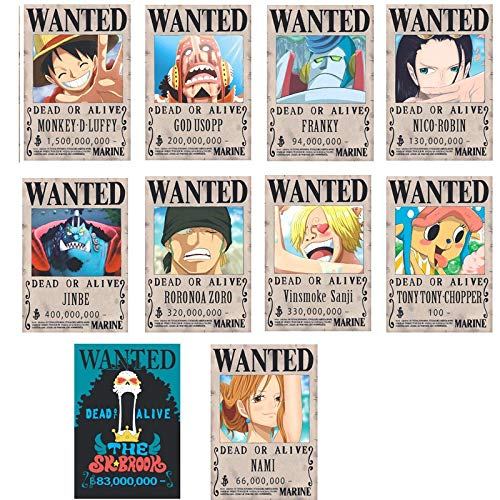 NONE One Piece Poster Wanted Luffy 1.5 Billion Reward O