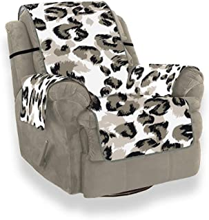 Funny Zebra Leopard Print Art Slipcover Chaise Lounge Chair Sofa Bed Cover Slipcover for Wingback Chair for 21