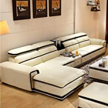 Living Room Sofa Set, Modern Corner Sofa Cortex Large and Small Apartment Sofa Suitable for Villas, Hotels, Homes