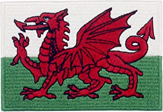 EmbTao Wales Flag Patch Embroidered Morale Applique Iron On Sew On Welsh Emblem