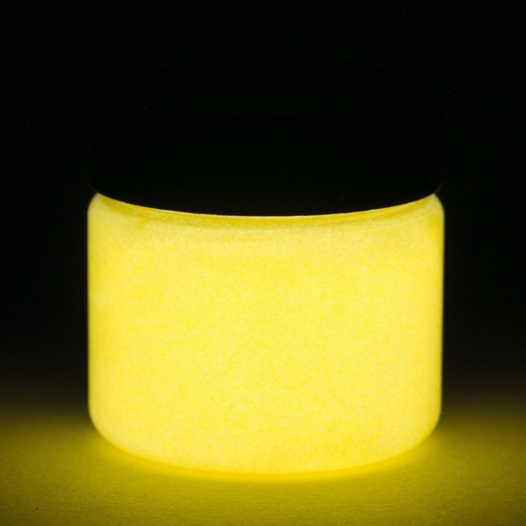 Fluorescent Glow In The Dark Paint - 1 Ounce (Fluorescent Orange) - 5+ Colors Available