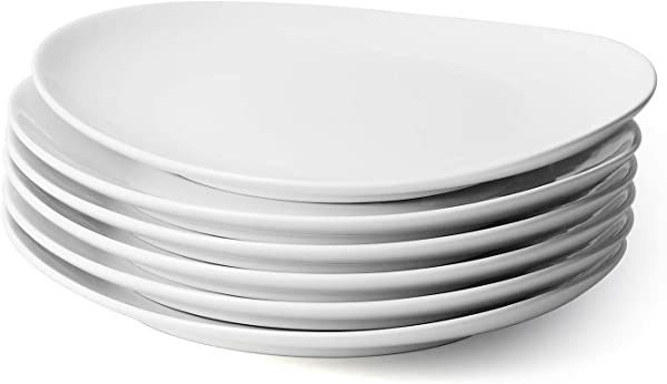Sweese 150 001 Porcelain Dinner Plates 11 Inch Set Of 6 White