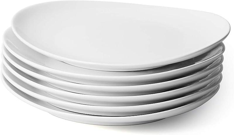Sweese 150 001 Porcelain Dinner Plates 11 Inch Set Of 6 White