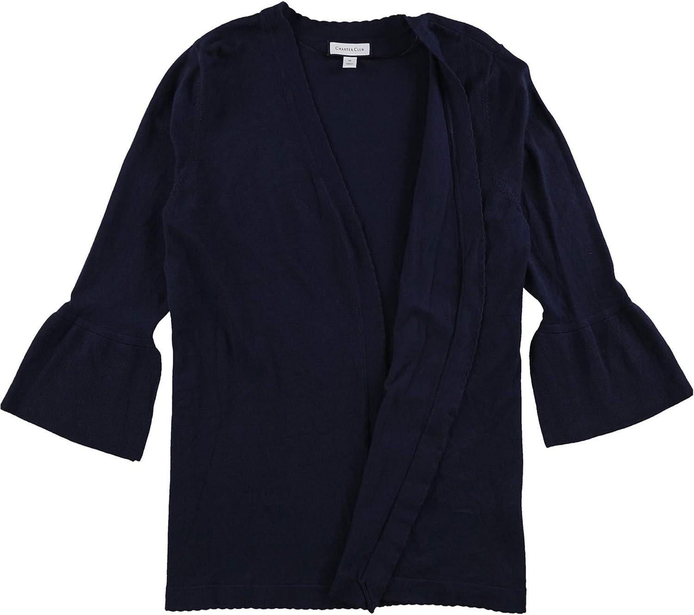 Charter Club Women's Scalloped Bell-Sleeve Cardigan