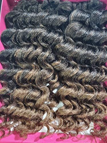 EON aka Kadi Fluffy Twist Braiding Hair (T1B/30 - Off Black/Light Auburn)
