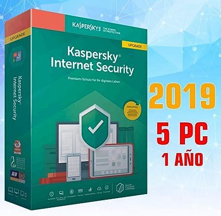 KASPERSKY INTERNET SECURITY 2019 5PC 1 AÑO licencia electrónica