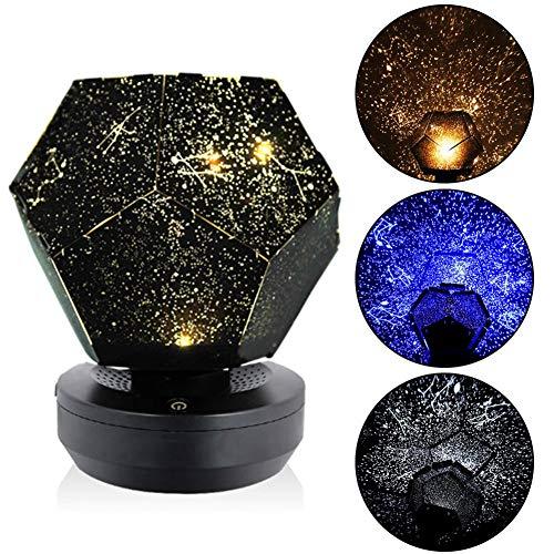 HS-Zak Miller Lámpara Fantasma Estrellado Star Sky Proyector Luz De Noche DIY Home Planetario Dormitorio Decoración Luz Estrellas Atmósfera Luz para Niños Adultos Festival Presente