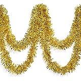 TCDesignerProducts Gold Metallic Twist Garland - 4' x 25' roll