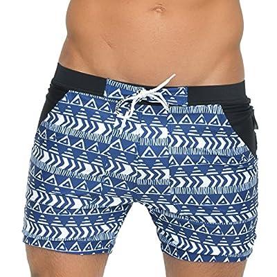 Taddlee Men's Swimwear Basic Swimsuits Board Swimming Surf Boxer Trunks Shorts