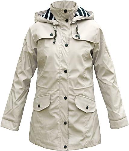 Batela Manteau de Pluie Femme avec Doubleure