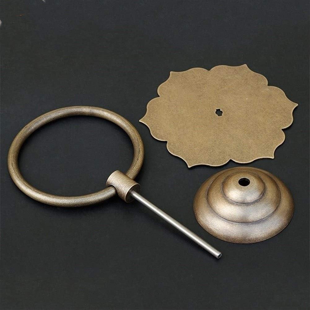 JJDSN Heurtoir de Porte Antique Boucle de Bague de Traction en cuivre Pur Accessoires de Construction Anciens heurtoir Beau et Durable