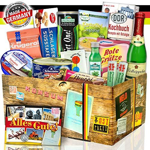 """Ostpaket """"DDR SPEZIALITÄTEN BOX"""" / Geschenkset Geburtstag für Sie"""