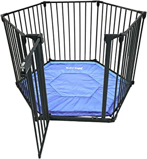 BABYSAFE Baby Safe Convertible Playpen with Mat - Grey, Grey, Pack of 1