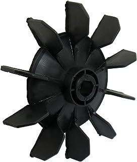 TOOGOO(R) Hoja del ventilador de motor de diez palas 14mm diametro interno plastico negro Pieza del compresor de aire