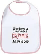 CafePress Drummer - like dad Bib Cloth Baby Bib
