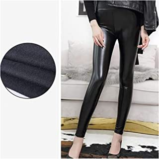 High Waisted Leggings for Women, PU Leather Leggings Womens Workout Yoga Fitness Tights Athletic Pants Legging,Thickenedlight,5XL