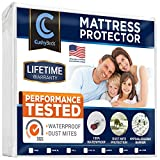 CushyBeds Premium Mattress Protector Cover Lab Tested 100% Waterproof, Hypoallergenic, Breathable Cool Flow, Noiseless, No Crinkling, Allergy & Vinyl Free - Twin XL Size Bed (Up to 18' Deep Pocket)