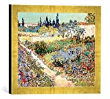 Kunst für Alle '–Fotografía enmarcada de Vincent Van Gogh The Garden at Arles, 1888, de impresión ...
