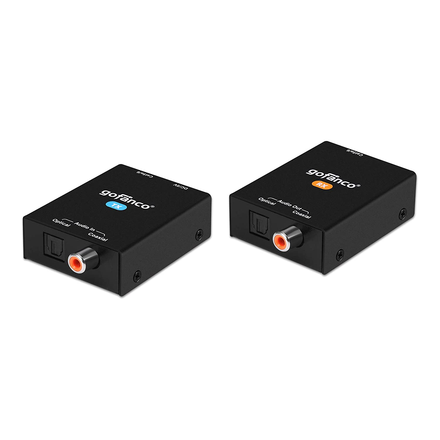gofanco Coaxial Optical Max 60% OFF Max 60% OFF Toslink Digital Over Extender CAT5 Audio