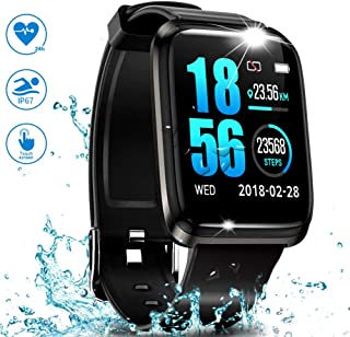 J-SPYFIT GPS Running Fitness Tracker,Smart Watch IP68 Waterproof with Color Screen,Sleep Monitor,Bluetooth Pedometer,Heart Rate,Blood Pressure Monitor Sports Watches for Android iOS Men Women Kids