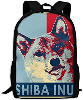 Shiba Inu Unique Outdoor Shoulders Bag Fabric Backpack Multipurpose Daypacks For Adult
