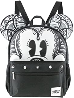 """Licensed Disney Mickey Mouse 12"""" Silver Stud x-Small/Mini Backpack"""