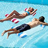 SSBRIGHT 2 Pack Inflatable Water Floating Bed, 4-in-1 Multi-Purpose Adult Pool Hammock Float Lounge Bed, Portable Swimming Chair, Oversized Floating Row for Beach Pool and Water Sports