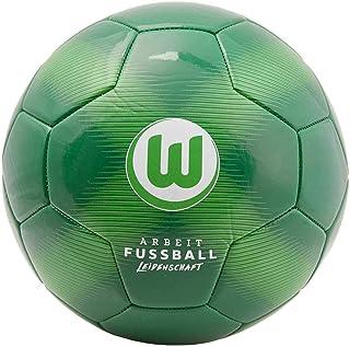 VfL Wolfsburg Fußball - Trikot - Ball Gr. 5 grün - Plus Lesezeichen Wir lieben Fußball