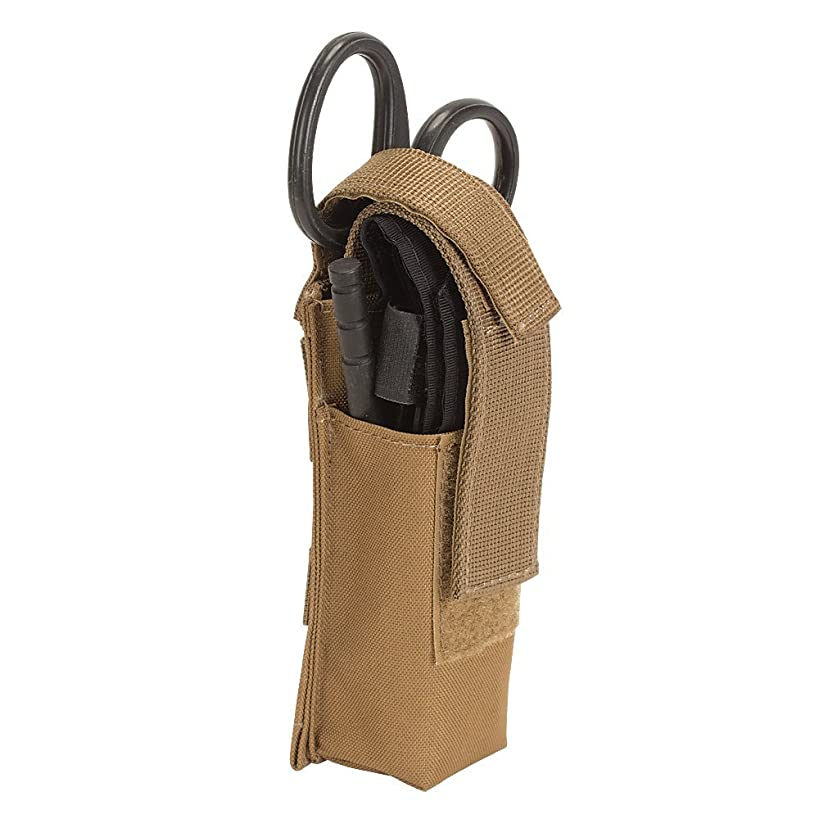 Spec Operator Molle TQ Pouch, CAT Tourniquet & Black EMT Shear Combination (Black Pouch)