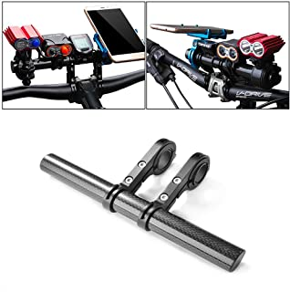 ANTOPY Bike Handlebar Extender Lamp Light Phone Mount Holder Bracket Extension Carbon Fiber Double Bicycle Handlebar Exten...
