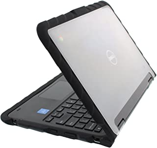 Gumdrop DropTech Case Designed for Dell 3189 Chromebook and 3189 Latitude 2-in-1 Laptop for K-12 Students, Teachers, Kids - Black, Rugged, Shock Absorbing, Extreme Drop Protection