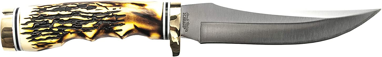hunting knife stag handle