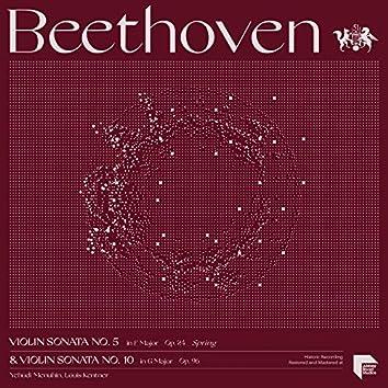 """Beethoven: Violin Sonatas No. 5 in F Major, Op. 24 """"Spring"""" & No. 10 in G Major, Op. 96"""