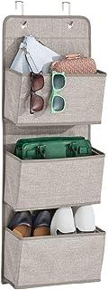 SKYFUN (LABEL) Collapsible Adjustable Clothes Storage Wardrobe Cupboard Closet with 3 Pockets Shelves Organizer Hanging Rail Rack (3 Pockets)