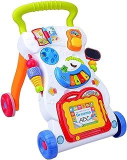 P Prettyia 幼児 赤ちゃん トロリーおもちゃ ウォーカー 手押し車 多機能