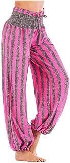 kasonj Harem-Hose mit elastischem Bund für Frauen