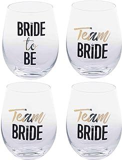 c046bbcfc50 Home Essentials Bride/Team Bride Stemless Glassware Set of 2